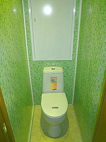 Установка сайдинга в туалете